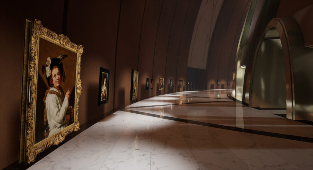 Dutch and Flemish paintings in the Kremer Museum rendered in virtual reality through LiDAR scanning and 3D modelling