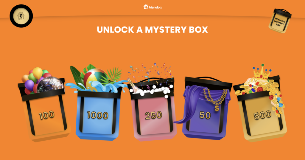 Website design for the Menulog Baller Banquet mystery box rewards